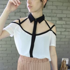 Nasty Gal Cut Out Blouse